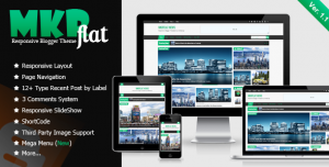 [Free Download] MKRflat - Responsive Magazine/News Blogger Theme