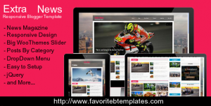 [Free Download] Extra News - Responsive Blogger Template