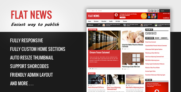 Flat News - Easy News & Magazine Blogger Template