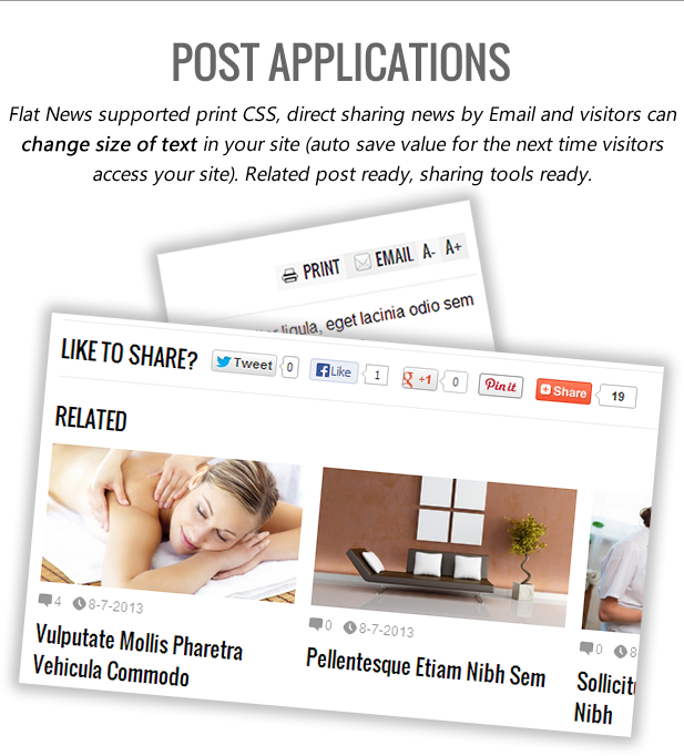 Flat News - Easy News & Magazine Template-post-apps